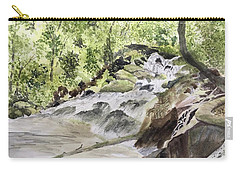 Catawba Falls - A Watercolor Sketch Carry-all Pouch