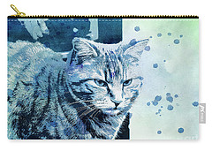 Carry-all Pouch featuring the digital art Catbird Seat by Jutta Maria Pusl