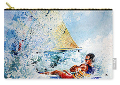 Carry-all Pouch featuring the painting Catch The Wind by Hanne Lore Koehler