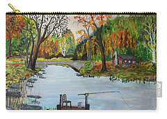 Carry-all Pouch featuring the painting Catching Breakfast by Jack G Brauer