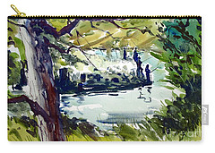 Catching Summer Dreams Framed Matted Glassed Carry-all Pouch