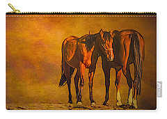 Catching The Last Sun Photoart Carry-all Pouch