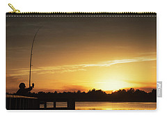Catching The Sunset Carry-all Pouch by Phil Mancuso