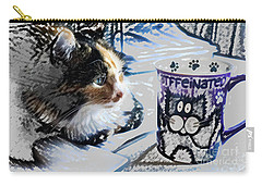 Catfinated Kitty Carry-all Pouch by Deborah Nakano