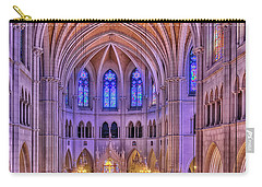 Carry-all Pouch featuring the photograph Cathedral Basilica Of The Sacred Heart Newark Nj II by Susan Candelario