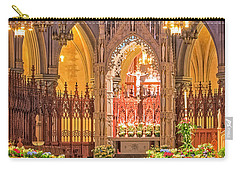 Carry-all Pouch featuring the photograph Cathedral Basilica Of The Sacred Heart Newark Nj by Susan Candelario