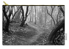 Carry-all Pouch featuring the photograph Cathedral Hills Serenity In Black And White by Marie Neder