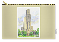 Cathedral Of Learning Carry-all Pouch by Val Miller