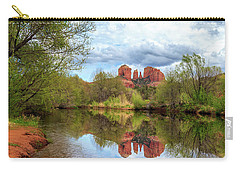 Cathedral Rock Reflection Carry-all Pouch by James Eddy