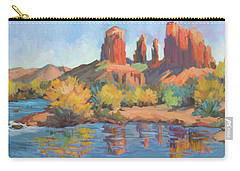 Moonrise Cathedral Rock Sedona Carry-all Pouch