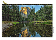 Cathedral Rocks Morning Carry-all Pouch by Peter Tellone