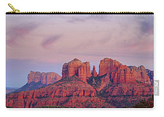 Carry-all Pouch featuring the photograph Cathedral Rock by Patricia Davidson