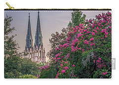 Carry-all Pouch featuring the photograph Cathedral Spires At Sunset by Rob Sellers