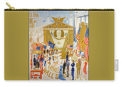 Carry-all Pouch featuring the photograph The Cathedrals Of Wall Street - History Repeats Itself by John Stephens