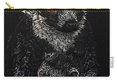 Catherina And Baby Abby Carry-all Pouch by Linda Becker