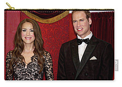 Carry-all Pouch featuring the photograph Catherine And Prince William by Miroslava Jurcik