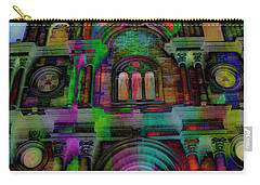 Carry-all Pouch featuring the photograph Catholic Church At Chordeleg, Ecuador by Al Bourassa