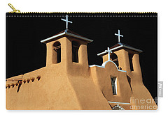 Carry-all Pouch featuring the photograph St Francis De Assi Church  New Mexico by Bob Christopher
