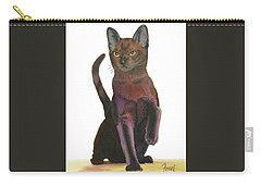 Carry-all Pouch featuring the painting Cats Meow by Ferrel Cordle