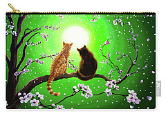 Cats On A Spring Night Carry-all Pouch