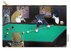 Cats Playing Pool Carry-all Pouch