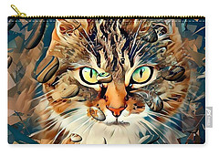 Cats Popart By Nico Bielow Carry-all Pouch