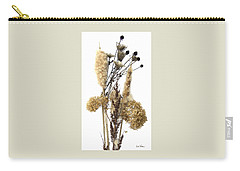 Cattails And November Flowers II Carry-all Pouch by Lise Winne