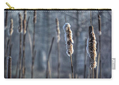 Carry-all Pouch featuring the photograph Cattails In The Winter by Sumoflam Photography