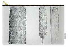 Carry-all Pouch featuring the drawing Cattails Iv by J R Seymour