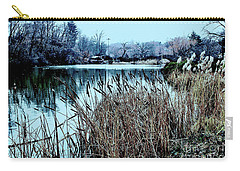 Cattails On The Water Carry-all Pouch by Sandy Moulder