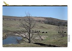 Cattle Along Deep Creek Carry-all Pouch