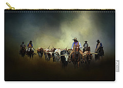 Cattle Drive At Dawn Carry-all Pouch by David and Carol Kelly