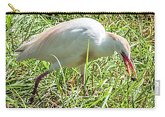 Cattle Egret Catching A Spider Carry-all Pouch