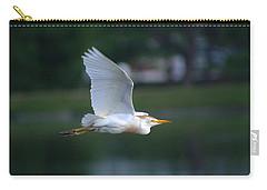 Cattle Egret Profile Portrait In Flight Carry-all Pouch