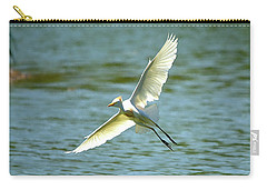 Cattle Egret Right Banking Turn - Digitalart Carry-all Pouch