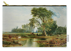 Cattle Watering Carry-all Pouch by Thomas Moran