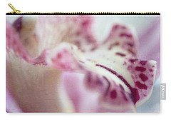Carry-all Pouch featuring the photograph Cattleya Orchid Abstract 4 by Jenny Rainbow
