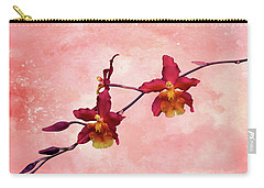 Cattleya Spray On Grunge Carry-all Pouch by Rosalie Scanlon
