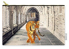 Carry-all Pouch featuring the painting Catwalk  by Gabriella Weninger - David