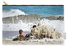 Carry-all Pouch featuring the photograph Caught From Behind by Terri Waters
