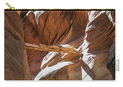 Carry-all Pouch featuring the photograph Caught In A Slot by Gaelyn Olmsted