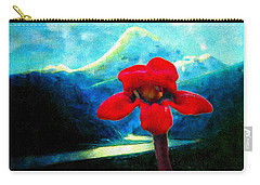 Carry-all Pouch featuring the photograph Caucasus Love Flower I by Anastasia Savage Ealy