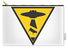 Caution Ufos Carry-all Pouch by Pixel Chimp