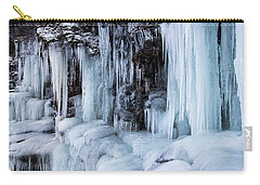 Carry-all Pouch featuring the photograph Caves Of Ice by Alex Lapidus