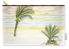 Carry-all Pouch featuring the digital art Cayman Beach by Darren Cannell