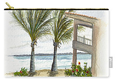 Carry-all Pouch featuring the digital art Cayman Hotel by Darren Cannell