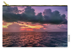 Carry-all Pouch featuring the photograph Cebu Straits Sunset by Adrian Evans