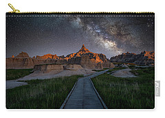Carry-all Pouch featuring the photograph Cedar Pass Milky Way by Darren White