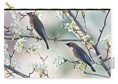 Cedar Wax Wing Pair Carry-all Pouch