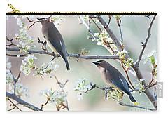 Cedar Wax Wing Pair Carry-all Pouch by Jim Fillpot
